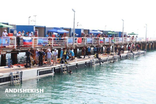 گزارش تصویری: آخرین روزهای مسابقات غواصی ارتش های جهان در جزیره کیش/عکس:  امیررضا سیم ریز