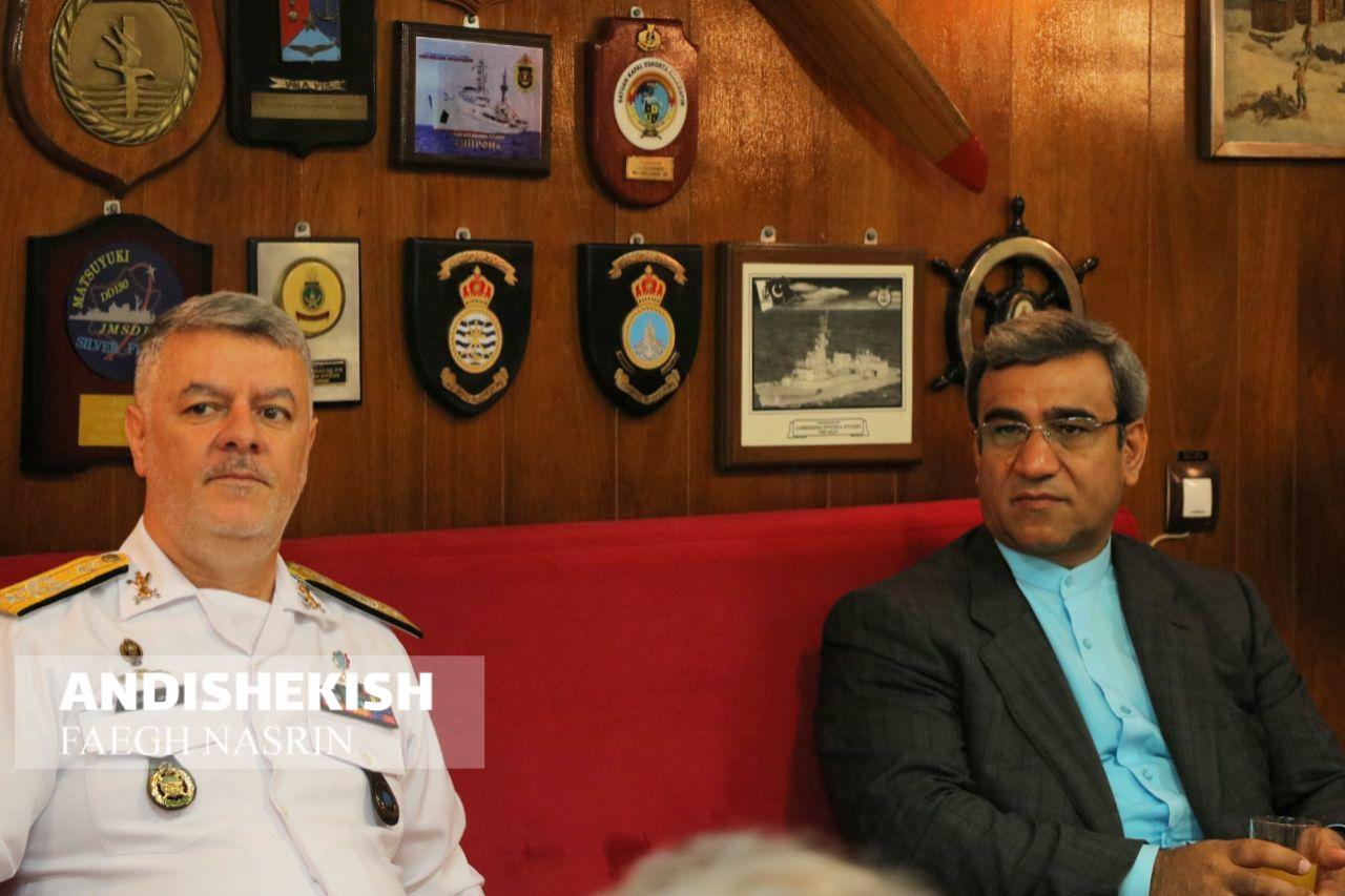 گزارش تصویری : بازدید مدیرعامل سازمان منطقه آزاد کیش از ناوشکن  الوند/عکس : نسرین فائق