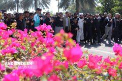 پیاده روی جاماندگان اربعین حسینی در کیش/ عکس : امیررضا سیم ریز