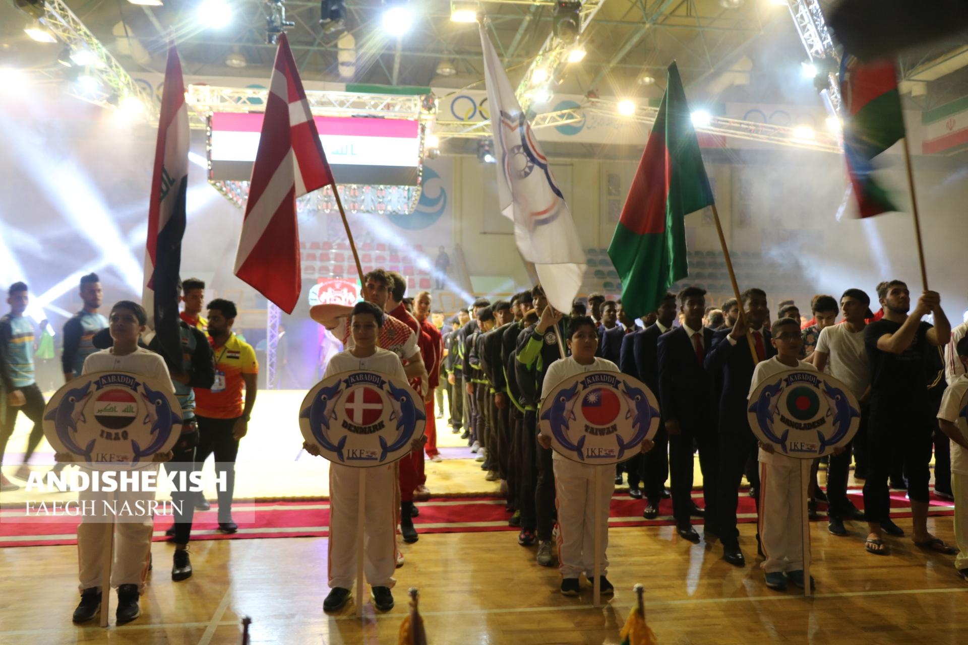 افتتاح مسابقات کبدی قهرمانی جوانان جهان در کیش