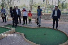 افتتاحیه و برگزاری اولین دوره آموزشی مینی گلف در جزیره کیش / عکس : امیررضا سیم ریز