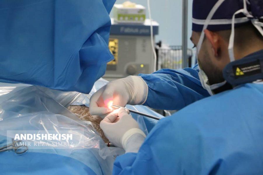گزارش تصویری : ملی پوش کشتی  ایران زیر تیغ جراحان بیمارستان جزیره کیش/امیررضا سیم ریز