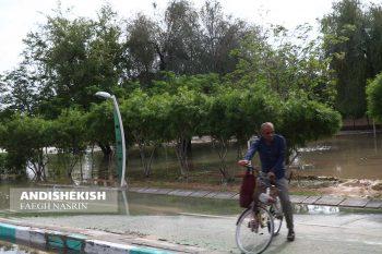 گزارش کوتاه از وضعیت باران و آب گرفتگی دربعضی از مناطق جزیره کیش