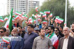 گزارش تصویری : راهپیمایی ۲۲ بهمن در جزیره کیش/عکس : امیررضا سیم ریز – شمسی منتی نوکانی