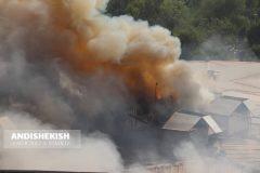 گزارش تصویری : آتش سوزی در بازار پردیس ۱ – عکس : امیررضا سیم ریز/شمسی منتی نوکانی