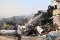 بازار پردیس یک کیش در آتش سوخت